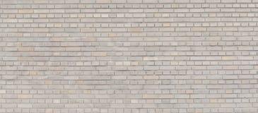 Panorama beige del muro di mattoni Fotografia Stock