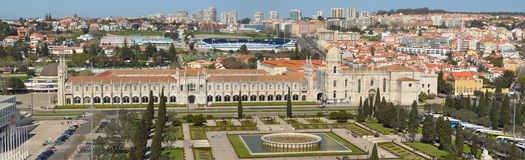 Panorama of the Belem district of Lisbon Royalty Free Stock Photo