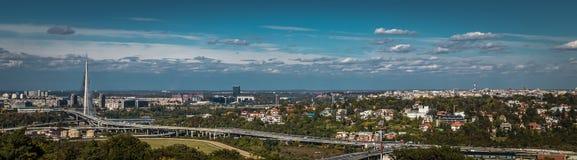 Panorama Belgrad Serbien Stockfotografie