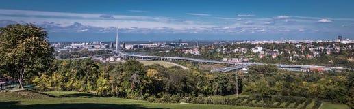 Panorama Belgrad Serbien Lizenzfreie Stockfotos