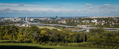 Panorama Belgrad Serbien Stockbild