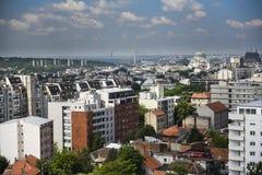 Panorama of Belgrade city Stock Photo