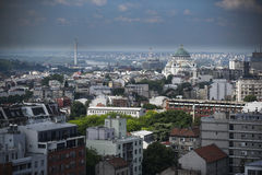 Panorama of Belgrade city Royalty Free Stock Photos
