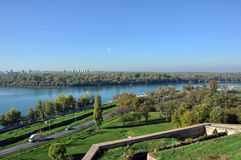 Panorama of Belgrade Stock Photos