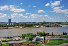 Panorama of Belgrade Royalty Free Stock Images