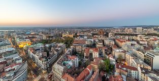 Panorama of Belgrade. stock photography