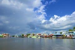 Panorama Belize miasta port Zdjęcie Royalty Free