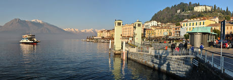 Panorama Bellagio Jeziorny Como 1 Zdjęcie Royalty Free