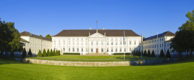 Panorama with Bellevue palace in Berlin Stock Images