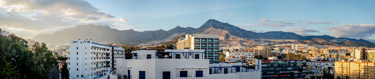 Panorama of Benalmadena town Royalty Free Stock Images