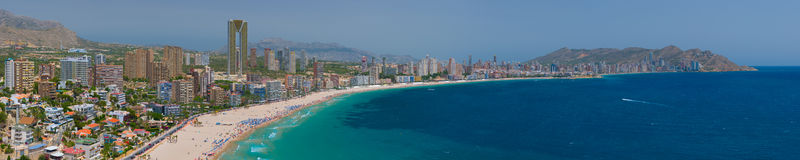 Panorama of Benidorm Royalty Free Stock Photography