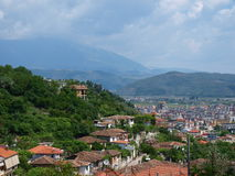 Panorama of Berat, Albania Stock Photo