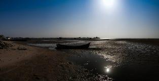 Panorama of Berbera port and beach with boats Somalia Stock Image