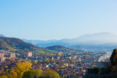 Panorama of Bergamo, Italy Stock Photos