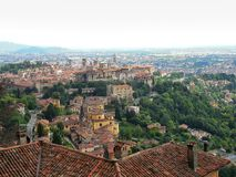 Panorama of Bergamo. June 2016, best place to holiday Royalty Free Stock Image