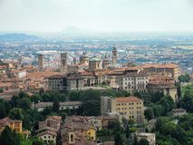 Panorama of Bergamo. June 2016, best place to holiday Stock Photos