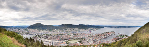 Panorama of Bergen Royalty Free Stock Photography