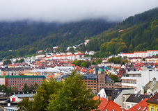 Panorama of Bergen, Norway Stock Image