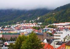 Panorama of Bergen, Norway Stock Image
