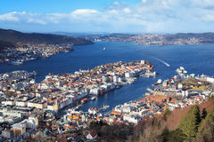 Panorama of Bergen, Norway Royalty Free Stock Photo