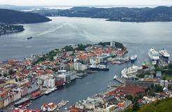 Panorama of Bergen, Norway Stock Photo
