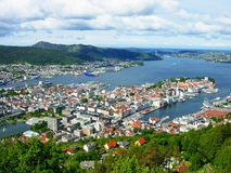 Panorama of Bergen Stock Photography