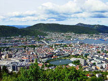Panorama of Bergen Stock Photo