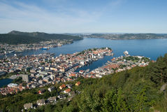 Panorama of Bergen (Norway) Stock Photography