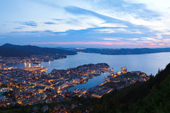 Panorama of Bergen Norway Royalty Free Stock Image