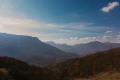 Panorama- bergsikt av Bosnien och Herzwgovina arkivfoto