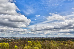 Panorama of Berlin Royalty Free Stock Images