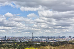 Panorama of Berlin Royalty Free Stock Photos