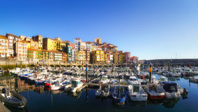 Panorama of Bermeo port in Basque Country Royalty Free Stock Photography