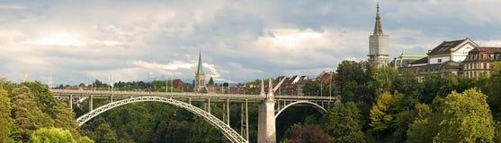 Panorama: Bern, Zwitserland Royalty-vrije Stock Foto's