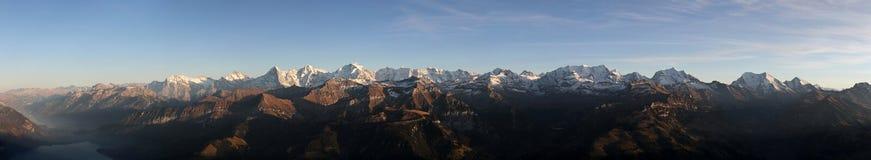 Panorama Bernese Oberland Lizenzfreie Stockfotos