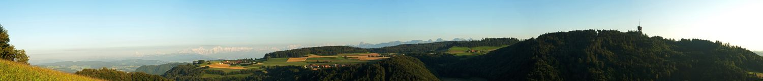 Panorama:Bernese Oberland, Switzerland Royalty Free Stock Photo