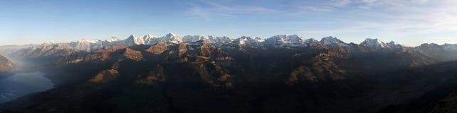 Bernese Oberland. Panorama Bernese Oberland in Switzerland stock photo