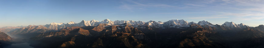 Panorama Bernese Oberland royalty-vrije stock foto's
