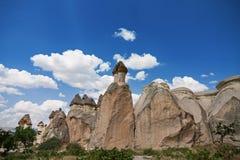 Panorama- beskåda av Cappadocia Fotografering för Bildbyråer