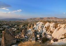 Panorama- beskåda av Cappadocia Arkivbild