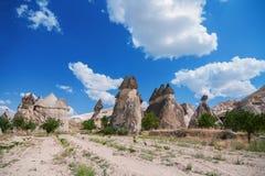 Panorama- beskåda av Cappadocia Royaltyfria Foton