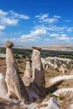 Panorama- beskåda av Cappadocia Arkivbilder