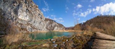 Plitvice lakesnationalpark croatia Royaltyfri Bild