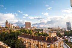 Panorama- beskåda av Kiev Arkivfoto