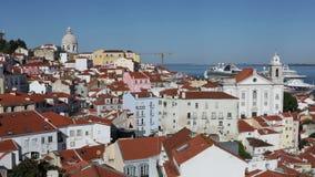 Panorama- beskåda av Lisbon, Portugal stock video
