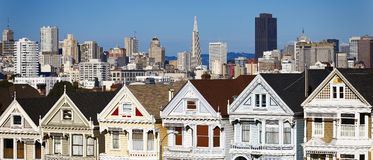 Panorama- beskåda av San Francisco arkivbilder