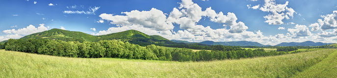 Panorama Beskydy mountains Stock Images