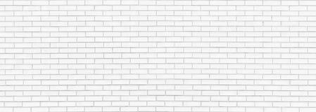 Panorama bianco del muro di mattoni Fotografie Stock
