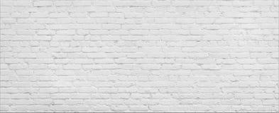 Panorama bianco del muro di mattoni Fotografie Stock Libere da Diritti