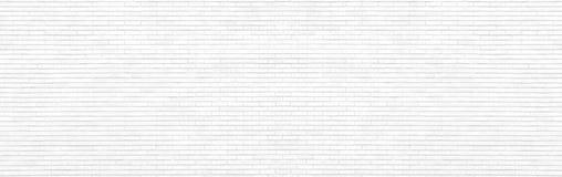 Panorama bianco del muro di mattoni Immagini Stock